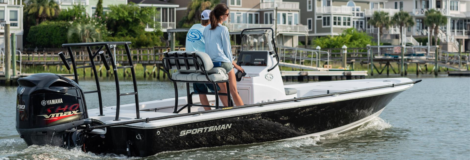 Sportman boat action shot